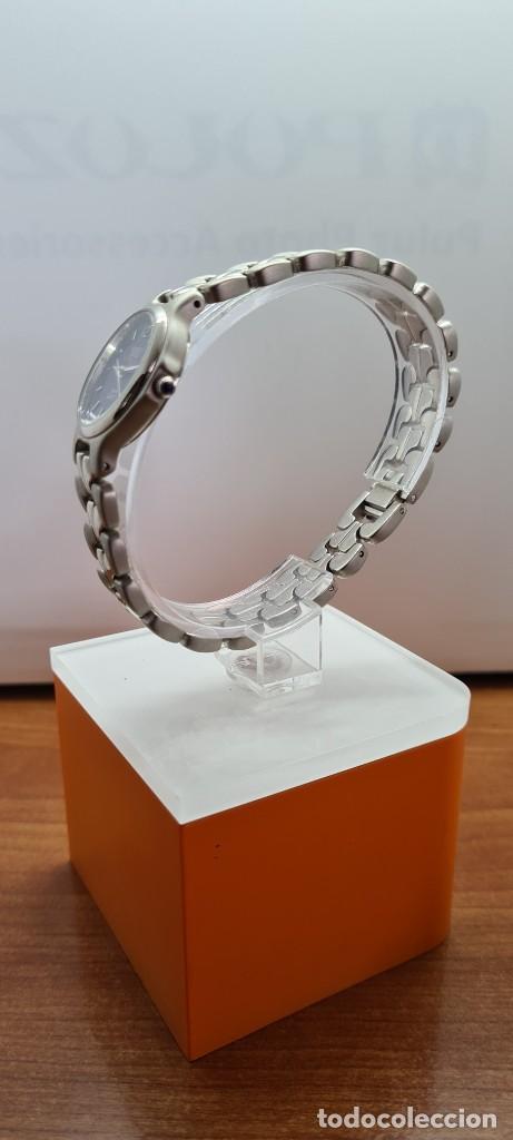 Relojes: Reloj señora ORIENT de cuarzo en acero, esfera azul, agujas acero, correa acero, reloj nuevo tienda - Foto 10 - 255433830