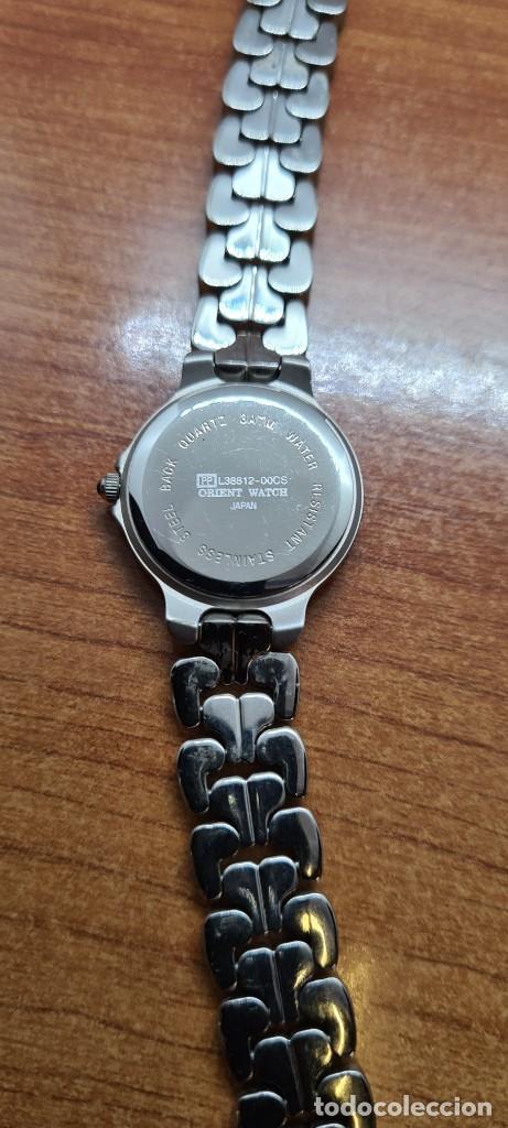 Relojes: Reloj señora ORIENT de cuarzo en acero, esfera azul, agujas acero, correa acero, reloj nuevo tienda - Foto 11 - 255433830