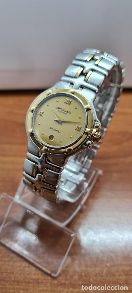 Relojes: Reloj señora RAYMOND WEIL. Parsifal acero y oro, esfera champán, calendario a las seis, correa acero - Foto 2 - 255441130