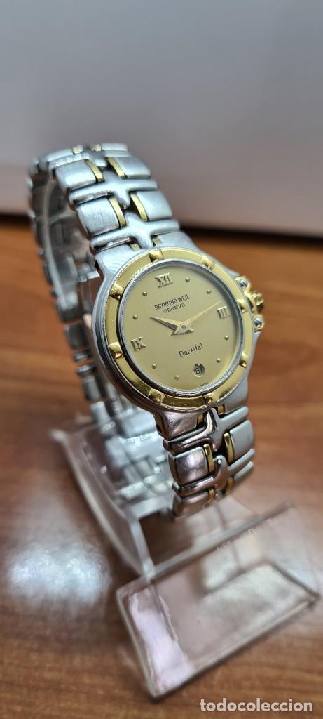Relojes: Reloj señora RAYMOND WEIL. Parsifal acero y oro, esfera champán, calendario a las seis, correa acero - Foto 3 - 255441130