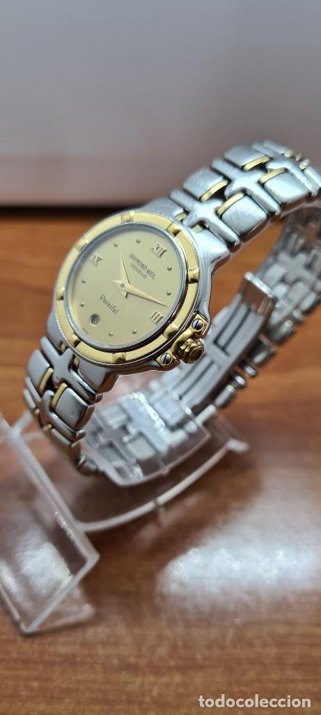 Relojes: Reloj señora RAYMOND WEIL. Parsifal acero y oro, esfera champán, calendario a las seis, correa acero - Foto 4 - 255441130