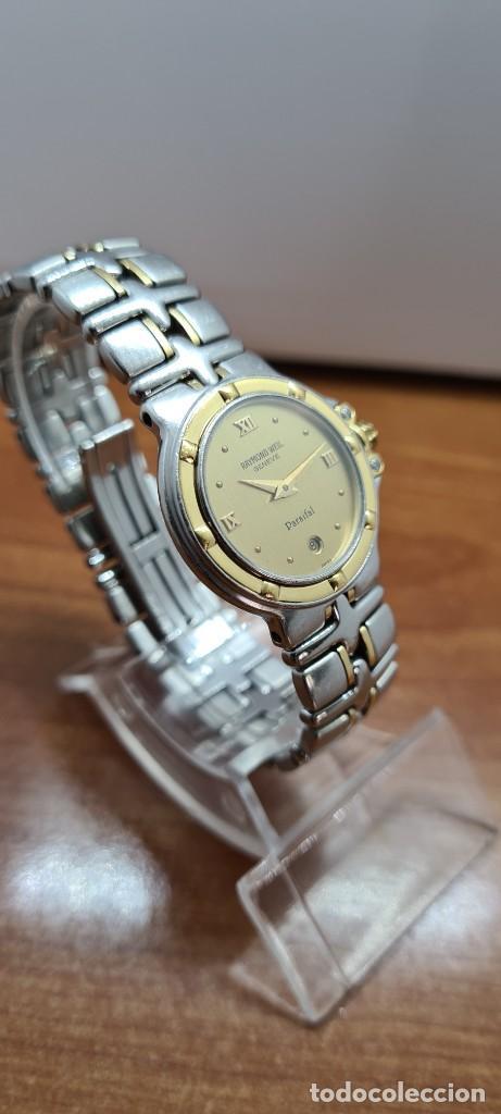 Relojes: Reloj señora RAYMOND WEIL. Parsifal acero y oro, esfera champán, calendario a las seis, correa acero - Foto 5 - 255441130