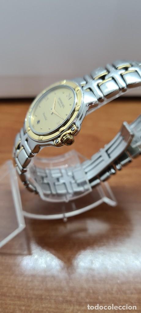 Relojes: Reloj señora RAYMOND WEIL. Parsifal acero y oro, esfera champán, calendario a las seis, correa acero - Foto 6 - 255441130