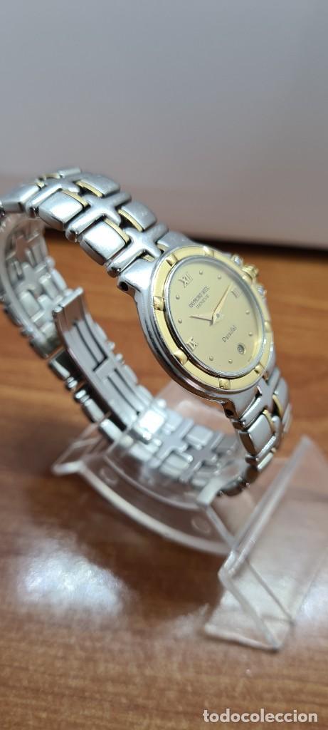 Relojes: Reloj señora RAYMOND WEIL. Parsifal acero y oro, esfera champán, calendario a las seis, correa acero - Foto 7 - 255441130