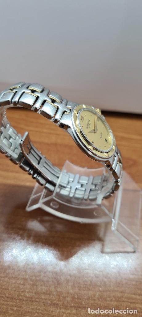Relojes: Reloj señora RAYMOND WEIL. Parsifal acero y oro, esfera champán, calendario a las seis, correa acero - Foto 9 - 255441130