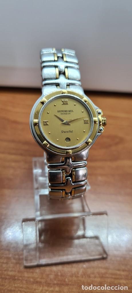 Relojes: Reloj señora RAYMOND WEIL. Parsifal acero y oro, esfera champán, calendario a las seis, correa acero - Foto 10 - 255441130