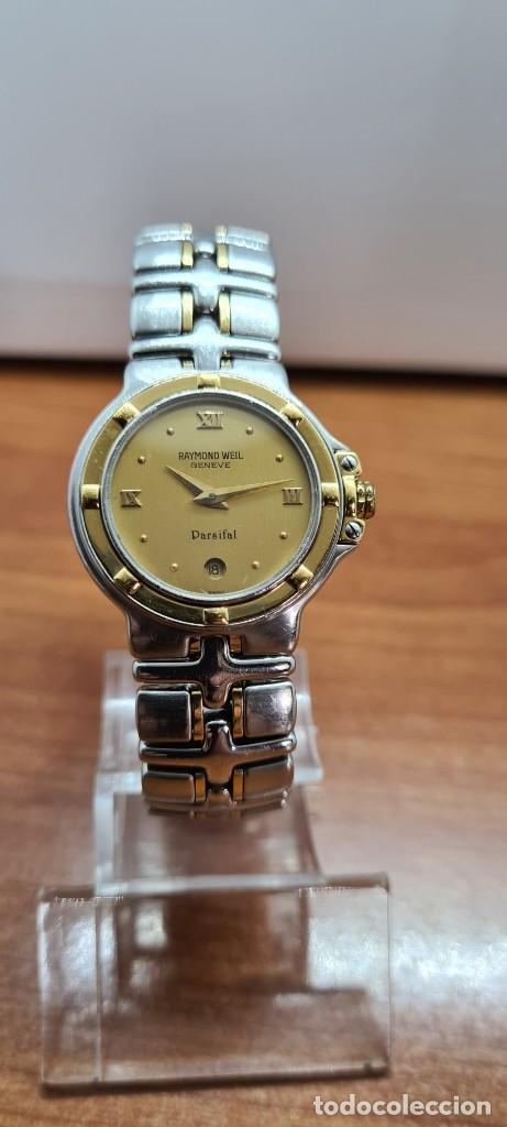 Relojes: Reloj señora RAYMOND WEIL. Parsifal acero y oro, esfera champán, calendario a las seis, correa acero - Foto 12 - 255441130