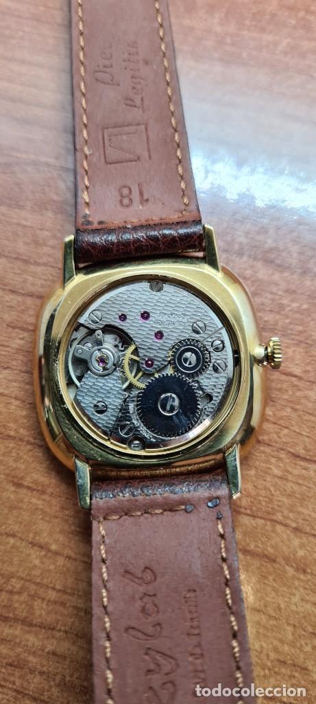 Relojes: Reloj unisex (Vintage) KALTER de cuerda manual, esfera blanca, caja acero chapada oro, correa marrón - Foto 16 - 255515945