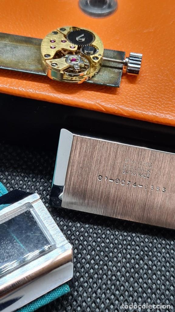 Relojes: Reloj unisex (Vintage) AVIA cuerda manual en acero, esfera color azul, correa cuero azul. FHF 74. - Foto 9 - 255934770