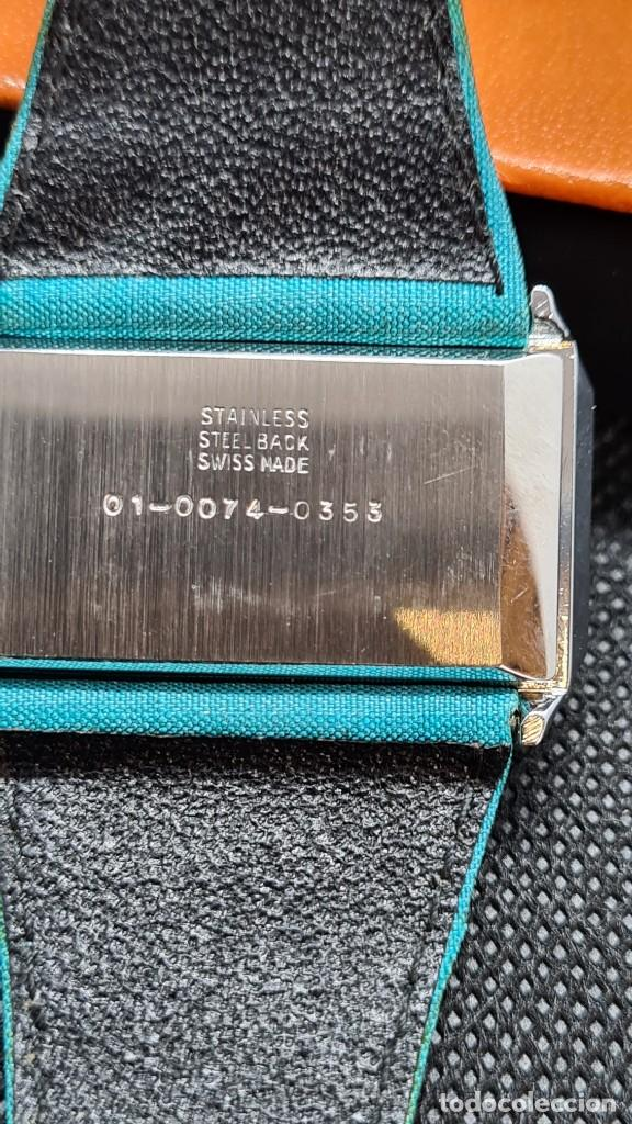 Relojes: Reloj unisex (Vintage) AVIA cuerda manual en acero, esfera color azul, correa cuero azul. FHF 74. - Foto 11 - 255934770