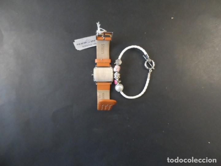 Relojes: RELOJ MUJER CORREA CUERO NARANJA Y PULSERA ACERO. MARCA LORUS. QUARTZ. CON CAJA - Foto 6 - 256048140
