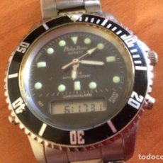 Relojes: RELOJ DEPORTIVO DE CABALLERO PHILIP PERSIO QUARTZ. DIGITAL Y ANALÓGICO. 3 ATM. Lote 257465875