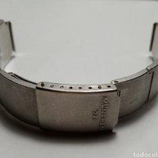 Relógios: BRAZALETEJUEGOS OLÍMPICOS MÜNCHEN 72, 14MM, DE ACERO, NUEVO A ESTRENAR PERO CON ALGUNAS RALLADAS. Lote 258003885