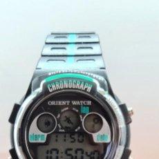Relojes: RELOJ CABALLERO (VINTAGE) CUARZO ORIENT DIGITAL ACERO, CRONO, ALARMA, FECHAS, CORREA CUERO SIN USO.. Lote 258013930