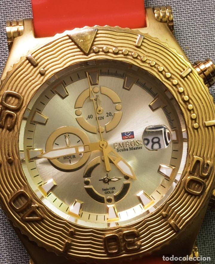 Relojes: BONITO RELOJ EMBOSS TIME SCUBA MASTER 5mic/18K GOLD - Foto 2 - 260365320