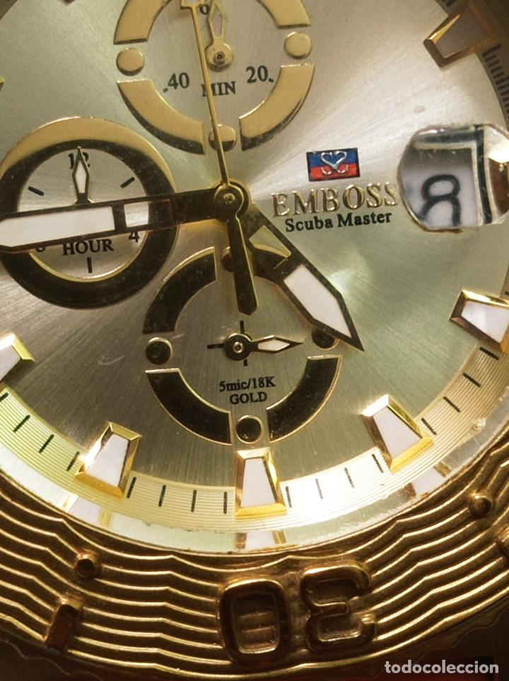 Relojes: BONITO RELOJ EMBOSS TIME SCUBA MASTER 5mic/18K GOLD - Foto 4 - 260365320
