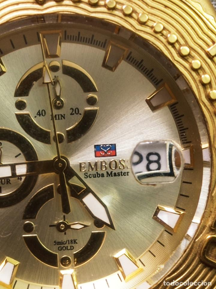 Relojes: BONITO RELOJ EMBOSS TIME SCUBA MASTER 5mic/18K GOLD - Foto 5 - 260365320