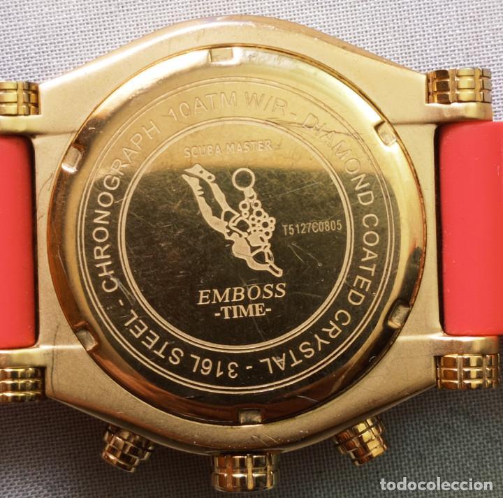Relojes: BONITO RELOJ EMBOSS TIME SCUBA MASTER 5mic/18K GOLD - Foto 8 - 260365320