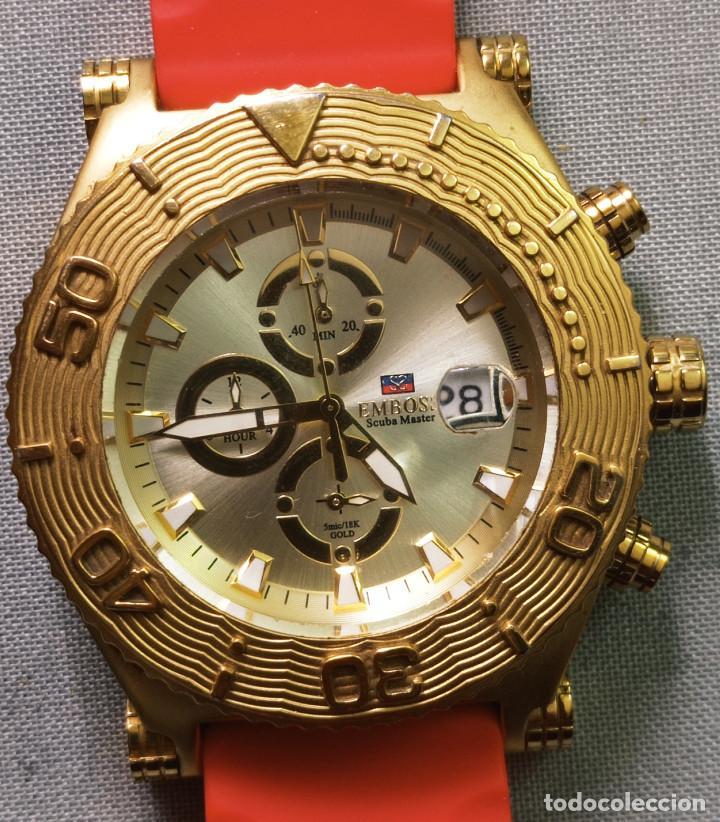 Relojes: BONITO RELOJ EMBOSS TIME SCUBA MASTER 5mic/18K GOLD - Foto 10 - 260365320