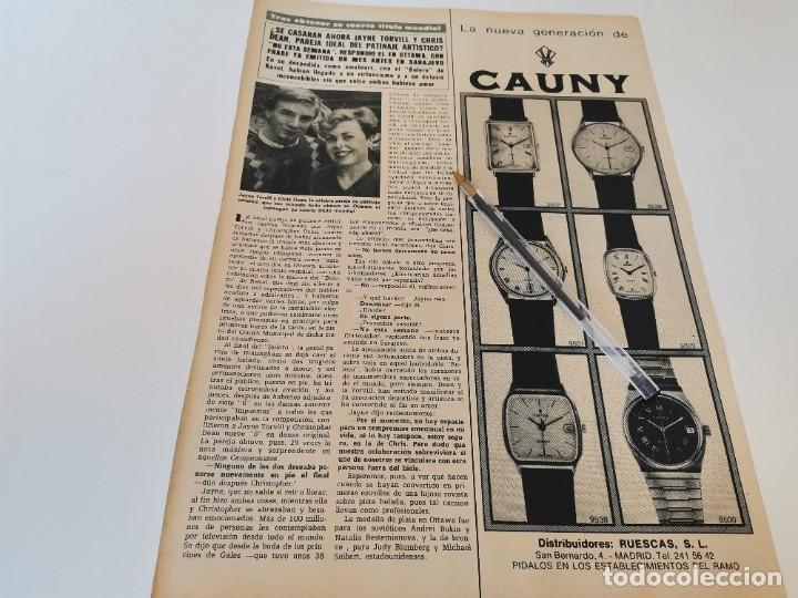 RELOJ CAUNY REVERSO TRATAMIENTO ADELGAZANTES CREMA PSYOT PARÍS ANUNCIO PUBLICIDAD REVISTA 1984 (Relojes - Relojes Actuales - Otros)