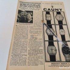 Relojes: RELOJ CAUNY REVERSO TRATAMIENTO ADELGAZANTES CREMA PSYOT PARÍS ANUNCIO PUBLICIDAD REVISTA 1984. Lote 263034460
