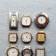 Relojes: LOTE DE 9 RELOJES DE CUARZO PARA DAMA. Lote 263160675