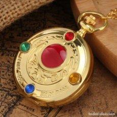 Relojes: RELOJ DE BOLSILLO DORADO SAILOR MOON NUEVO. Lote 266794184