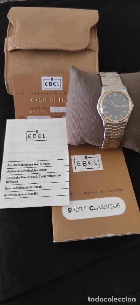 Relojes: EBEL SPORT CLASSIQUE, RELOJ DE CABALLERO, ALTA JOYERIA SUIZA, UNA JOYA EN ACERO Y ORO, CON ESTUCHE D - Foto 6 - 269200993