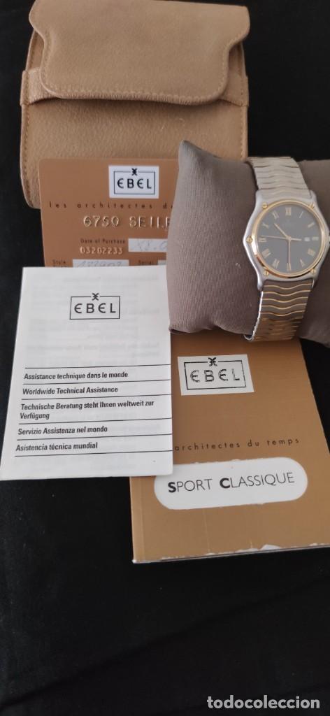 Relojes: EBEL SPORT CLASSIQUE, RELOJ DE CABALLERO, ALTA JOYERIA SUIZA, UNA JOYA EN ACERO Y ORO, CON ESTUCHE D - Foto 7 - 269200993