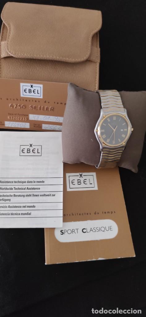 Relojes: EBEL SPORT CLASSIQUE, RELOJ DE CABALLERO, ALTA JOYERIA SUIZA, UNA JOYA EN ACERO Y ORO, CON ESTUCHE D - Foto 8 - 269200993