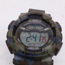 Relojes: RELOJ - WTI - ARMY DIJITAL NUEVO-MEDIDA 34MM , CRONOMETRO, ALARMA , LUZ ETC.. Lote 269501208