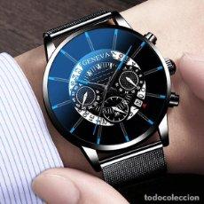 Relojes: ELEGANTE RELOJ DE CABALLERO .MARCA GENEVA ,A PILA, CON CORREA DE CUERO NEGRO. NUEVO.. Lote 269750213