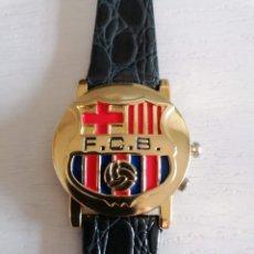 Relojes: CURIOSO RELOJ DEL BARÇA!!! PRODUCTO LICENCIADO OFICIAL *R* FCB ( FUTBOL CLUB BARCELONA ). Lote 274225068