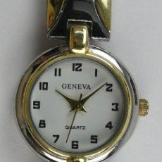 Relojes: RELOJ DE PULSERA GENEVA DORADO Y CROMADO QUARTZ. Lote 277720463