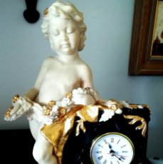 Relojes: RELOJ DE MARMOLINA DECORADO ORO. Lote 278884238