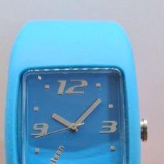 Relojes: RELOJ UNISEX DE CUARZO MARCA MAREA, ESFERA AZUL, CORREA DE SILICONA AZUL, AGUJAS ACERO, RELOJ NUEVO.. Lote 279511138
