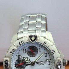 Relojes: RELOJ UNISEX CUARZO ORIENT MULTIFUNCIÓN DE ACERO CORREA ACERO ORIGINAL, ESFERA BLANCA CON SUBESFERAS. Lote 279512758