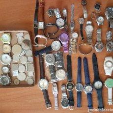 Relojes: SINGULAR LOTE DE 35 RELOJES USADOS Y COMPLEMENTOS. Lote 285152778