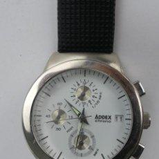Relojes: VINTAGE RELOJ DE PULSERA QUARTZ ADDEX CHRONO. Lote 285475953