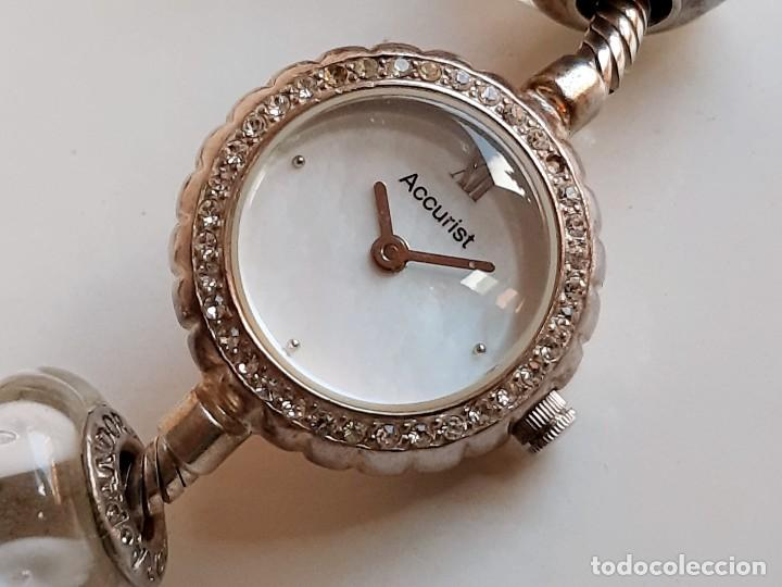 RELOJ ACCURIST DE PLATA STERLING Y CHARMS PANDORA PLATA - 51,70.GRAMOS - CAJA 22.MM DIAMETRO (Relojes - Relojes Actuales - Otros)