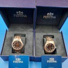 Relojes: PAREJA RELOJES FESTINA TITANIUM F16458. NUEVOS. Lote 285652013