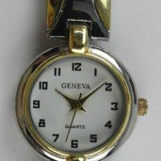 Relojes: RELOJ DE PULSERA GENEVA DORADO Y CROMADO QUARTZ. Lote 285819598