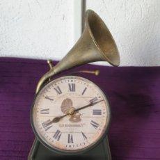 Relógios: ANTIGUO RELOJ OLD GRAMÓFON. Lote 287039543