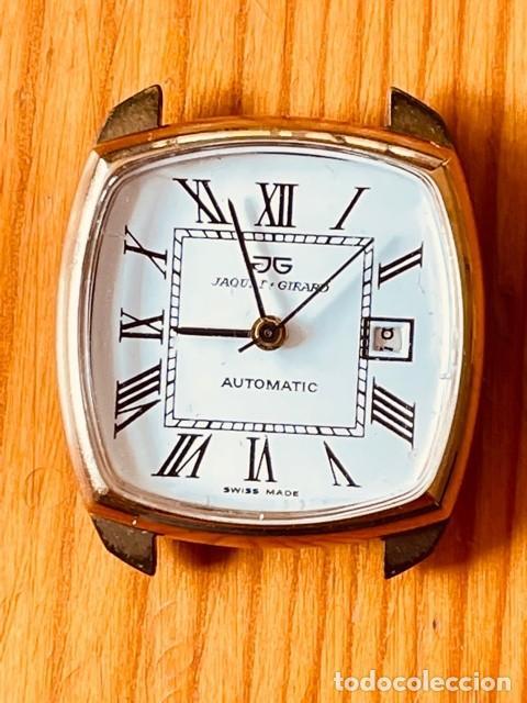 RELOJ JAQUET + GIRARD, MAQUINARIA AUTOMÁTICA, PARA ARREGLAR O PARA PIEZAS (Relojes - Relojes Actuales - Otros)