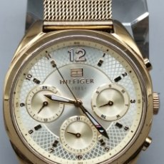 Relojes: RELOJ TOMMY HILFIGER 1985. CAJA Y CORREA ACERO DORADO. Lote 288227178