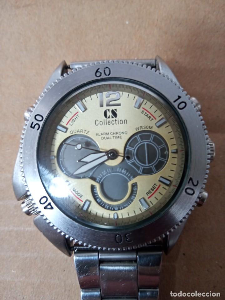 BONITO RELOJ CS COLLECTION ALARMA CHRONO DUAL TIME (Relojes - Relojes Actuales - Otros)