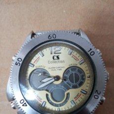 Relojes: BONITO RELOJ CS COLLECTION ALARMA CHRONO DUAL TIME. Lote 288606953