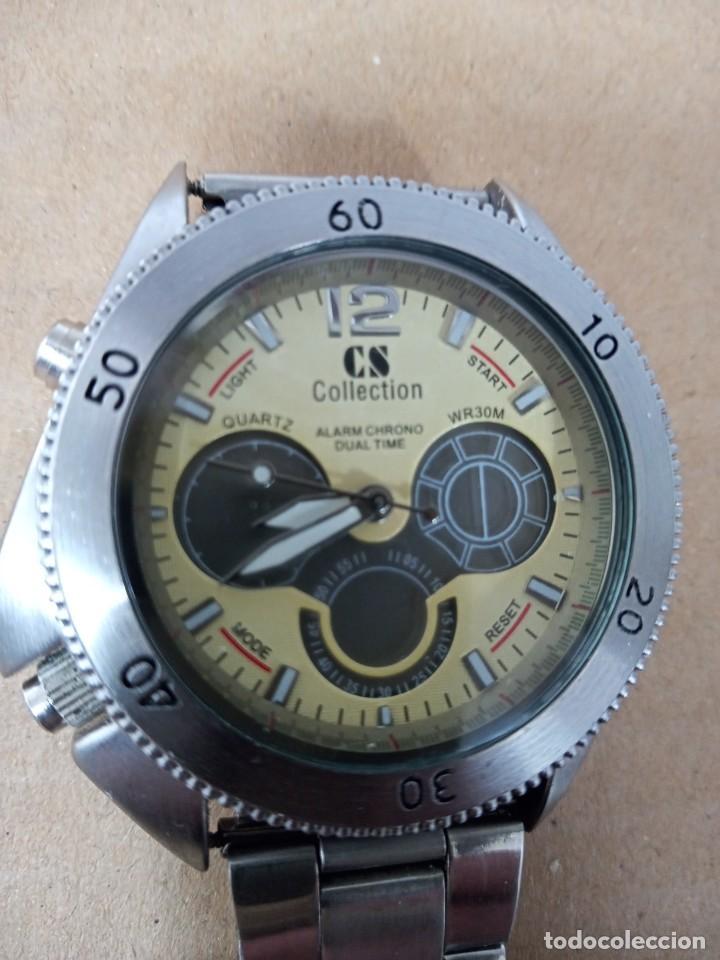 Relojes: BONITO RELOJ CS COLLECTION ALARMA CHRONO DUAL TIME - Foto 2 - 288606953