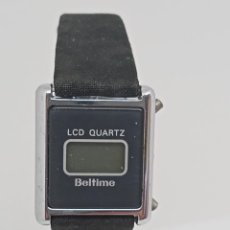 Relojes: RELOJ VINTAGE DE CUARZO LCD QUARTZ BELTIME. Lote 288935798