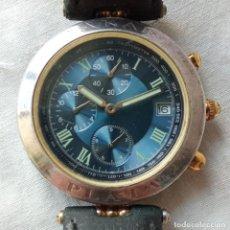Relojes: LOTE RELOJ PULSERA DAKAR CAJA DE PLATA CRONÓGRAFO CALENDARIO. Lote 293867313